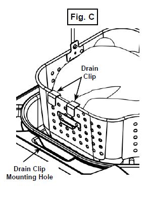 Location of the drain clip