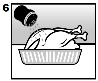 Seasoning the turkey before using the Butterball Electric Turkey Fryer