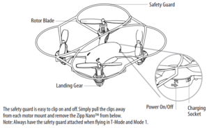 Zipp Nano Drone charger and on/off switch diagram