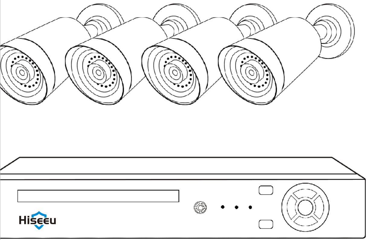 Hiseeu PoE Security Camera System diagram